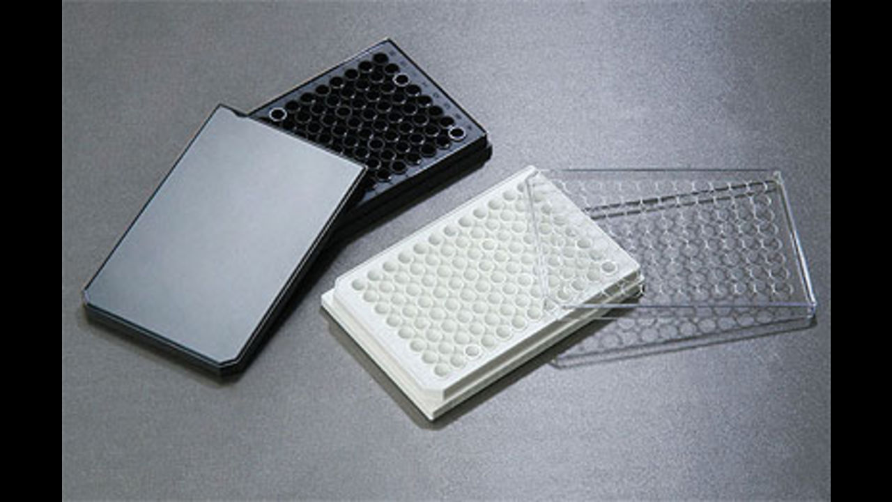 96-ти луночные черные и белые планшеты