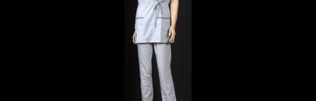 Медицинский костюм «Анита», Серый, Маки