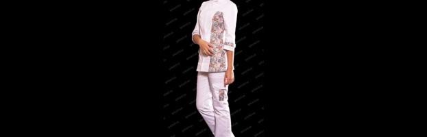 Медицинский костюм «Фан», с принтом