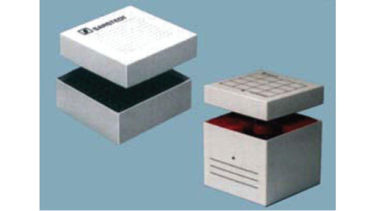 Коробки с крышками для хранения проб биологического материала