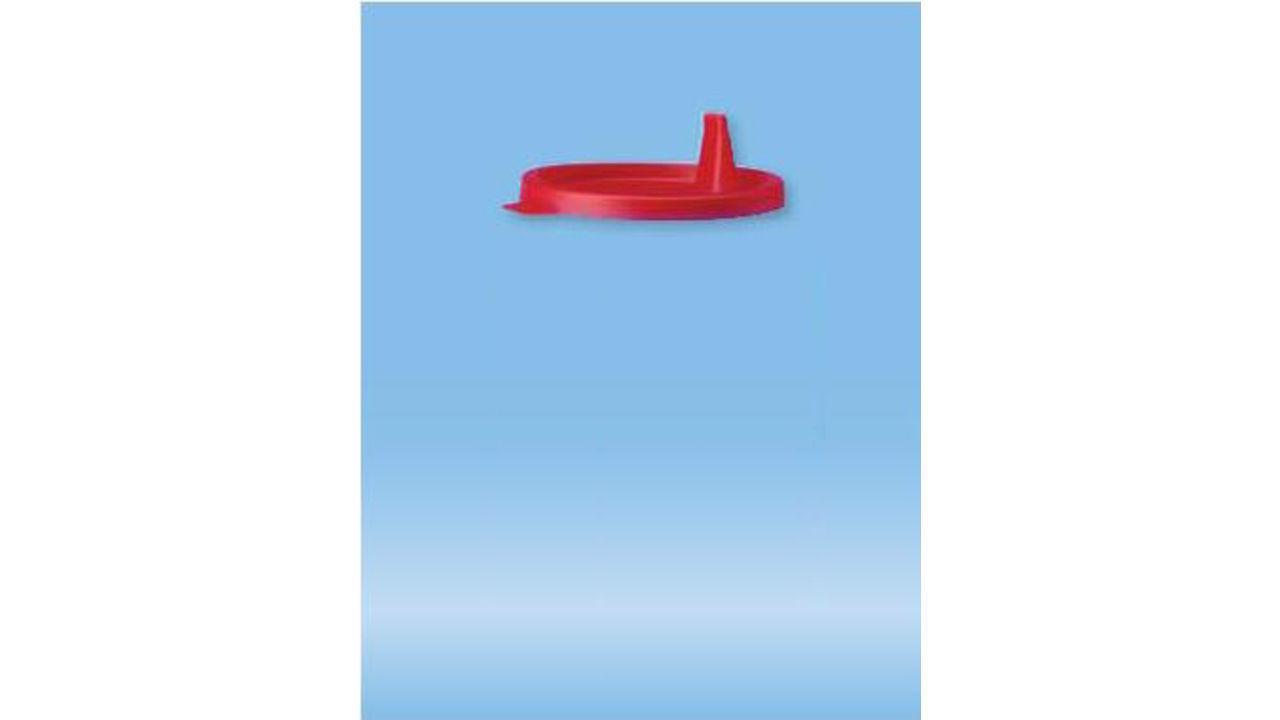 Крышка для контейнера 125 мл, полиэтилен, красная