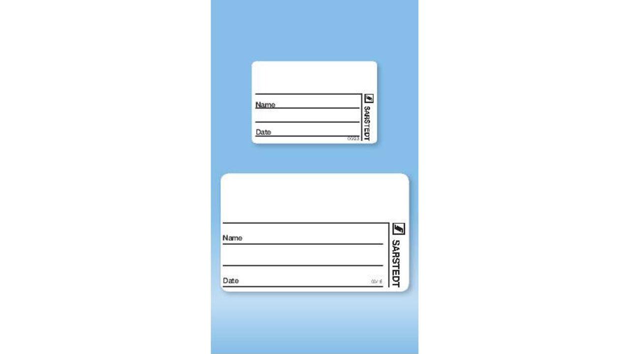 Бумажные этикетки для пробирок