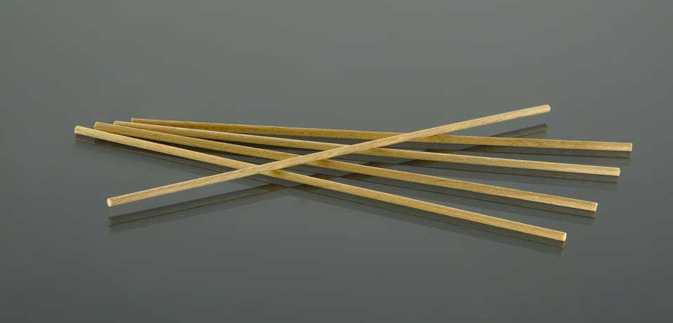 Деревянная палочка для мазка D 2,8мм x 180мм №0065