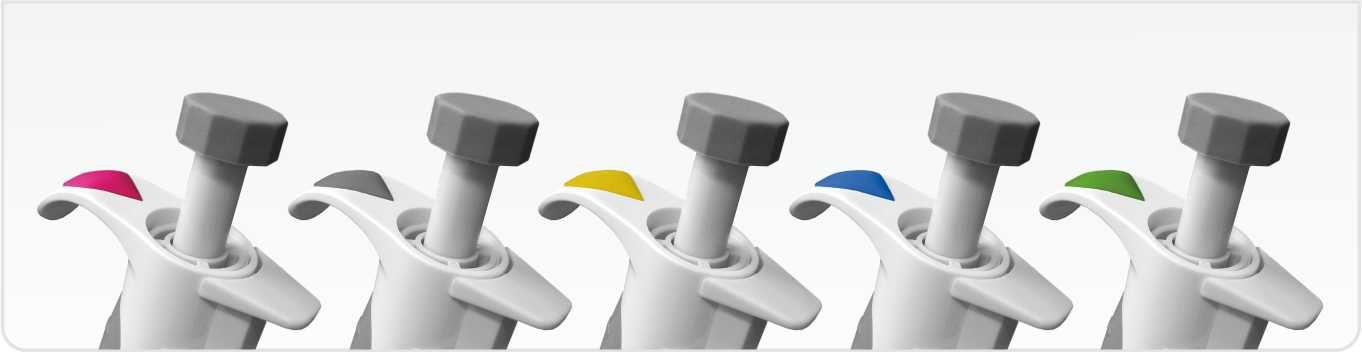 Цветовая кодировка автоматических дозаторов AHN (Германия)